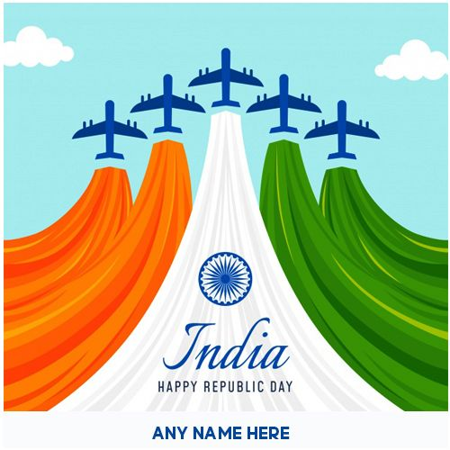 I Love My India 26 January Wish Republic Day With Name