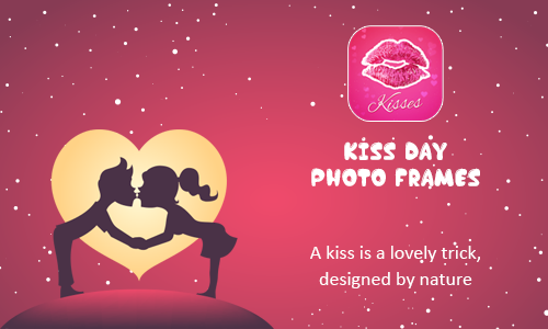 Happy Kiss Day Couple Kissing Photo Frame Generator.create Coupl...