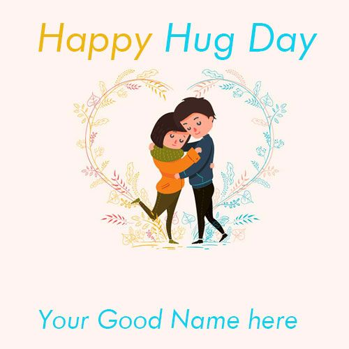 Happy Hug Day - Images With Name