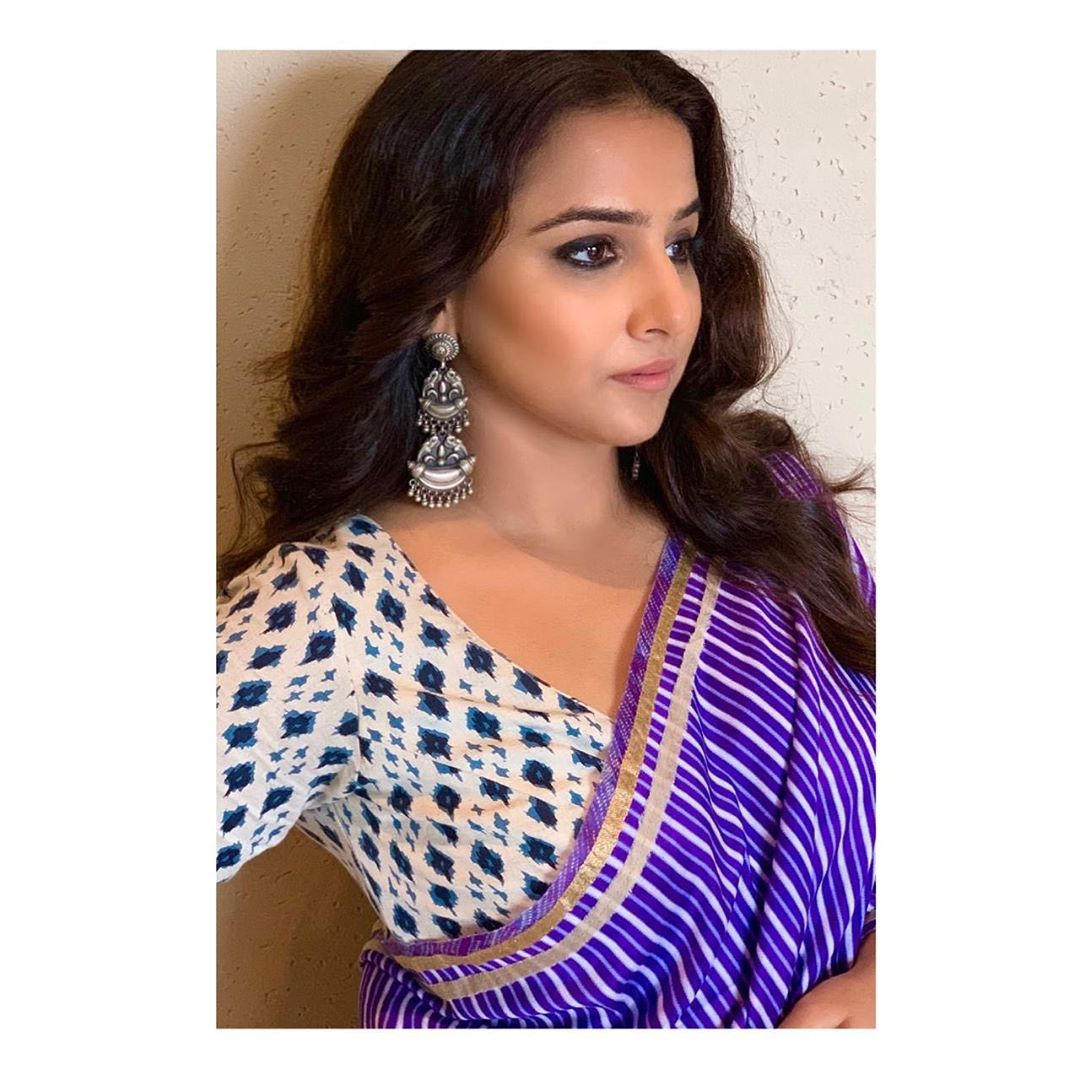 Vidya Balan And the countdown begins ....  promotions Saree - Makeup -... Wallpaper