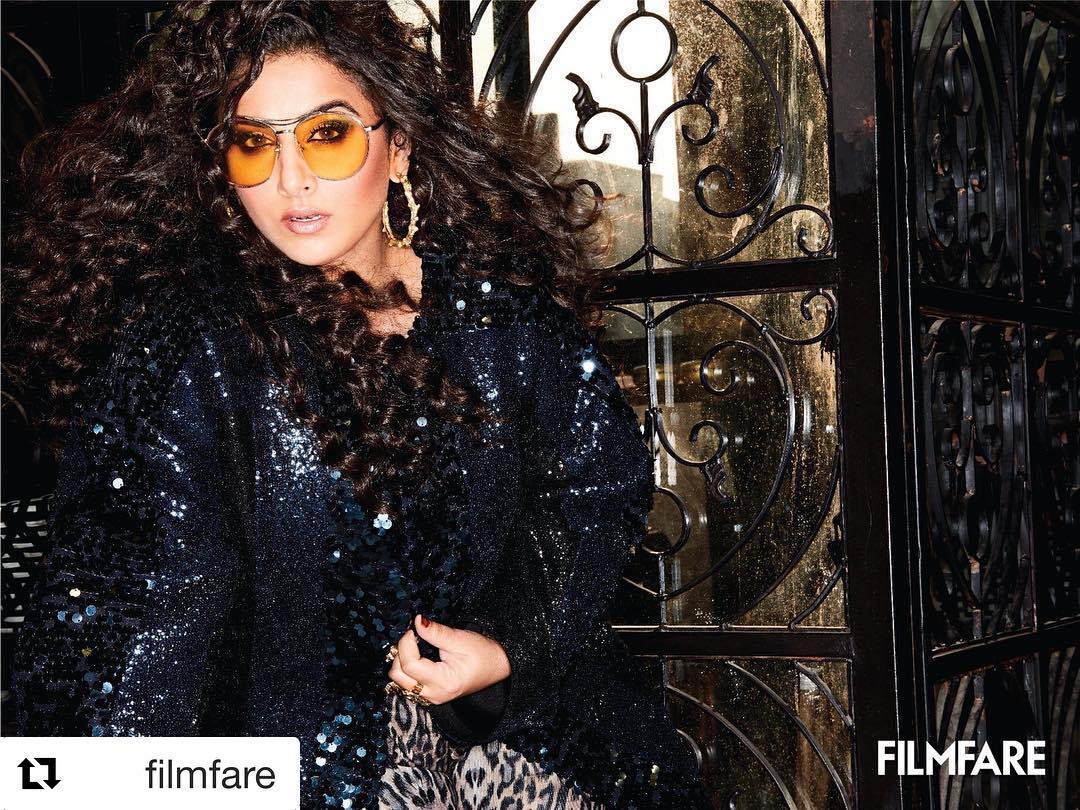 Vidya Balan with  ・・・ Let the party begin because our cover girl is a… Wallpaper