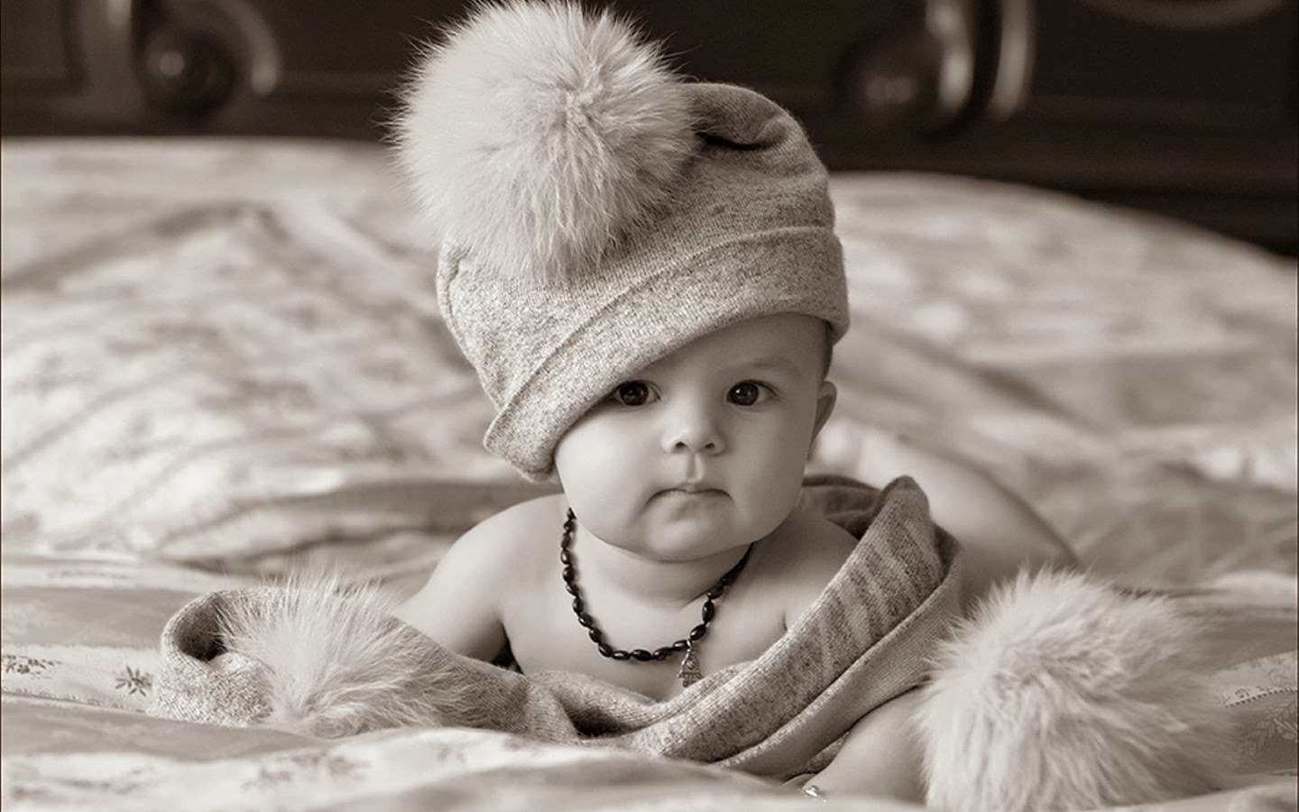 nice cute baby image in black and white