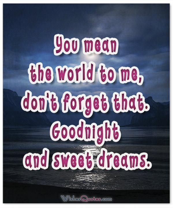 Flirty And Romantic Goodnight Messages For Her