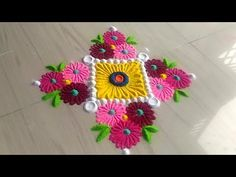 2 Minutes Rangoli Design Series Easy And Simple Method In Unique Style By Jyoti Rathod