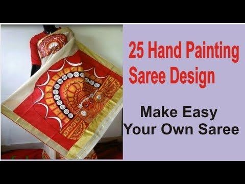 25 Best Hand Painted Sarees Images | Saree Painting Designs | Designer Saree | Saree Painting