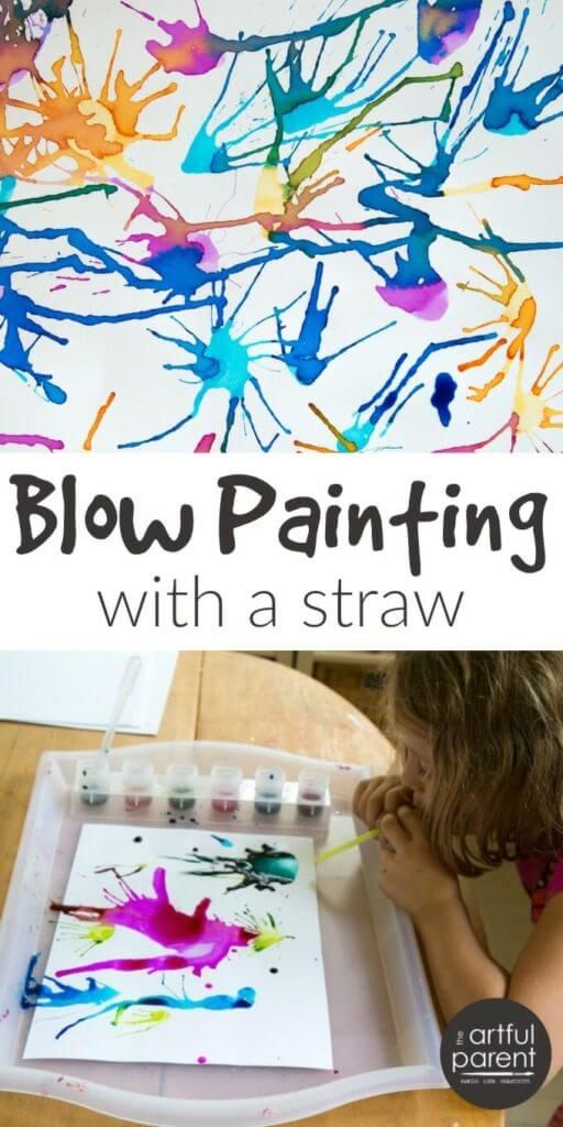 Blow Painting With Straws (With Video)
