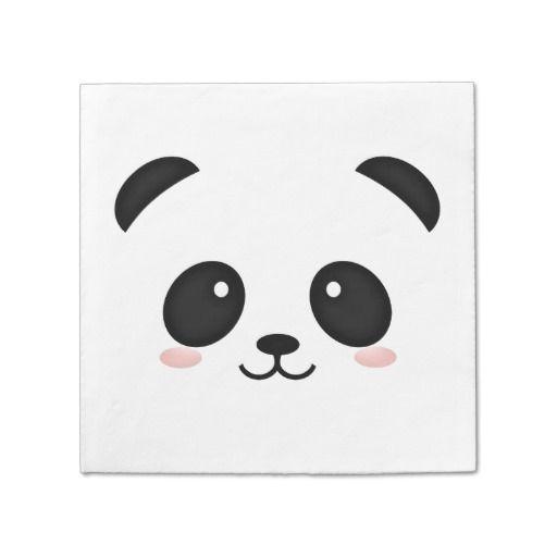 Cute Panda Face Kawaii Portrait Paper Napkins | Images Hd