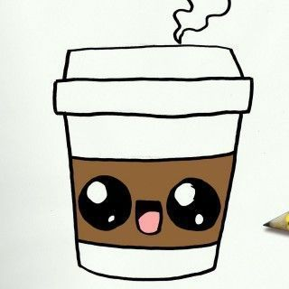 How To Draw A Coffee Cute Easy Step By Step Lessons For Children How To Draw A Coffee Cute Easy Step By Step Lessons For Children #One #Coffee #Children # Lessons #To Draw Best Picture For Drawi...