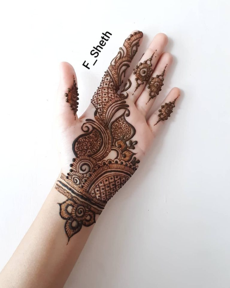 Latest Arabic Mehndi Design For Front Hand K4 Fashion 2020