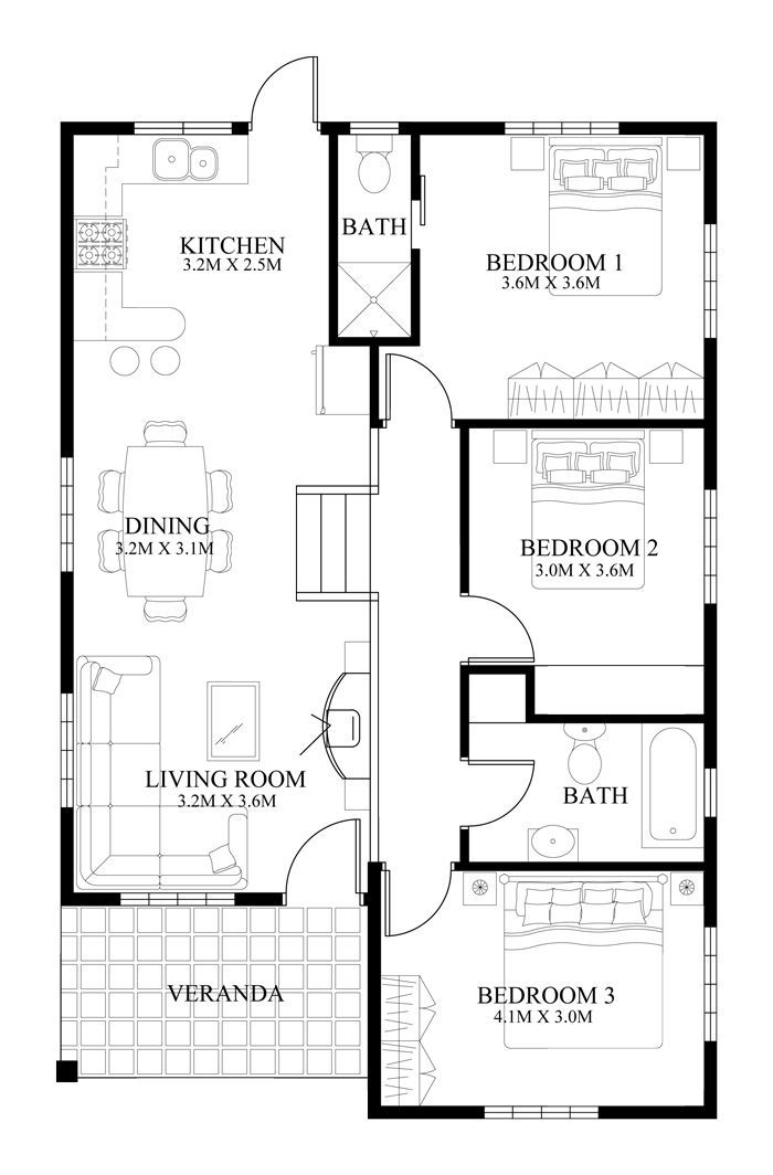 Small House Design – -005 | Pinoy Eplans