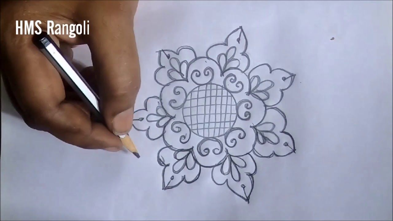 Step By Step Pencil Drawing Pencil Art Rangoli Designs For Beginners 2021 The kolam designs range between symmetrical and measured line drawings around a pattern of dots to mold here's one design with the base design a matrix of dots 5*5. step by step pencil drawing pencil