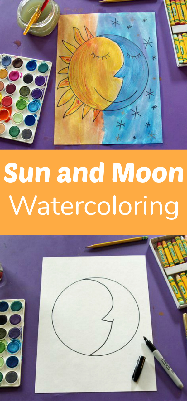 Sun And Moon Watercolor Project | Make And Takes