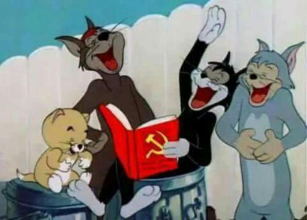 When She Is Teaching About Communism, And Gives Laughter   Tom And Jerry