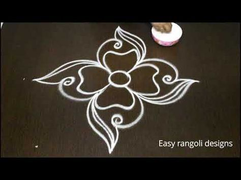 Easy Free Hand Rangoli Designs With Out Dots - New Muggulu - Simple Kolam Designs