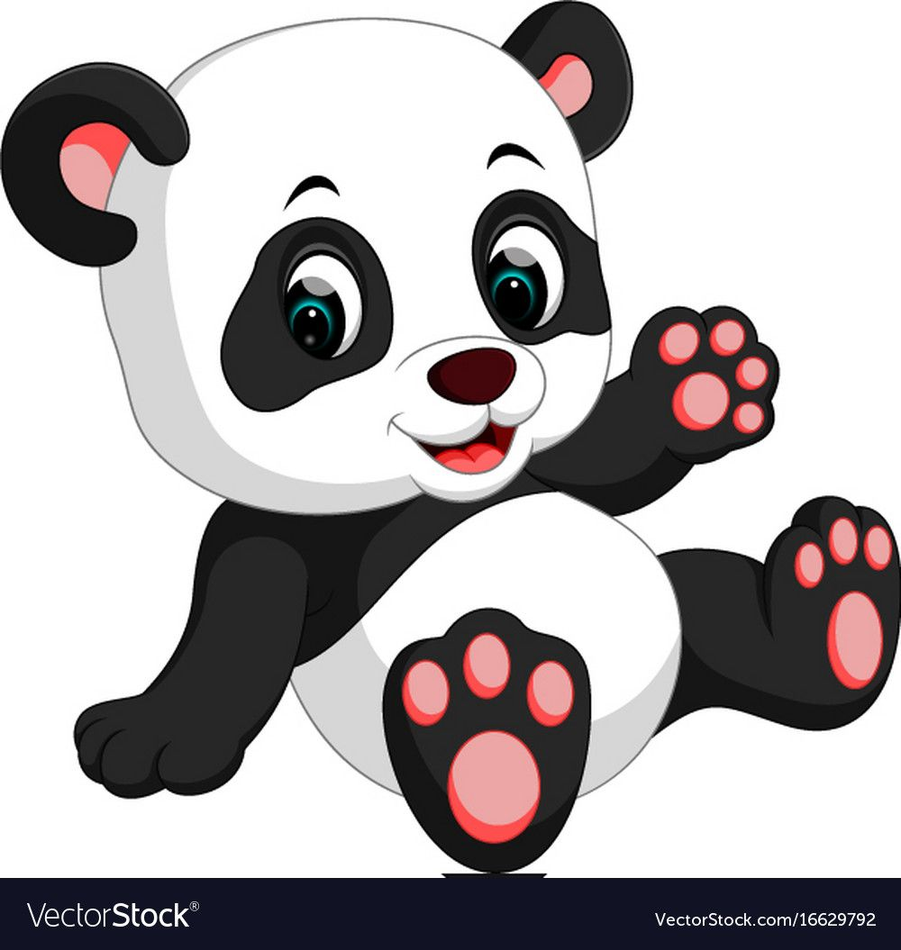 Illustration Of Cute Panda Cartoon. Download A Free Preview Or High Quality Adobe Illustrator Ai, Eps, Pdf And High Resolution Jpeg Versions. Id #16629792.