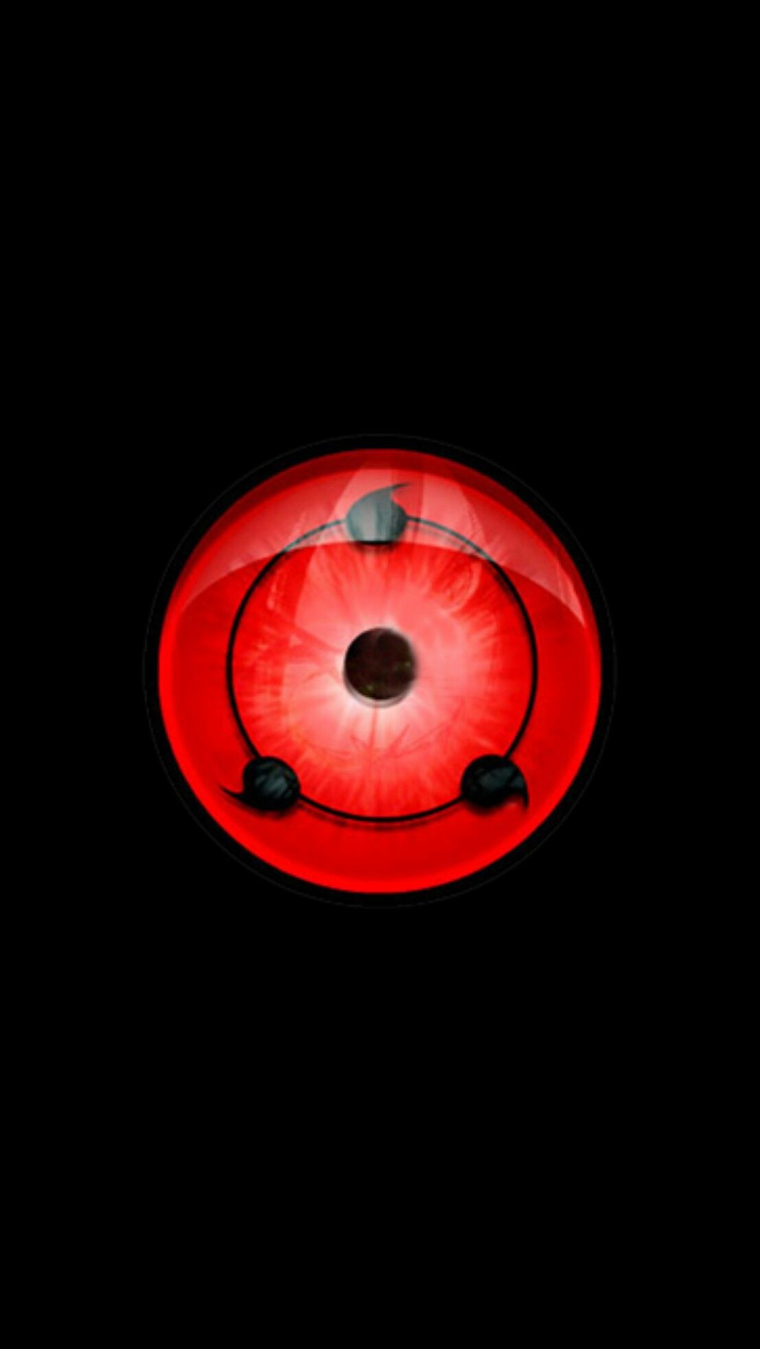 naruto sharingan android ios wallpaper black