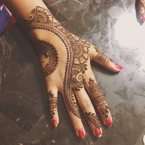 Simple Mehndi Designs [ Best 300 ] Hands Mehndi Photo   Mehndi Easy  
