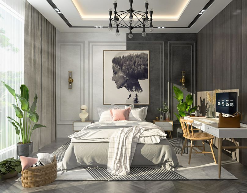 Modern Contemporary Bedroom In New Cairo