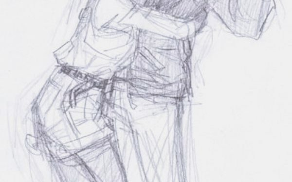 40 Romantic Couple Hugging Drawings And Sketches - Buzz -