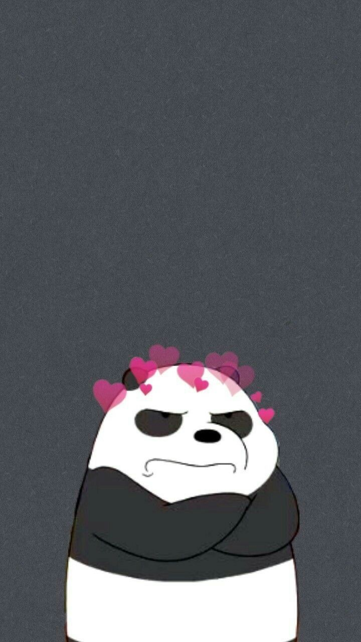 Awesome Dark Background Home Screen We Bare Bears Panda Wallpaper Images