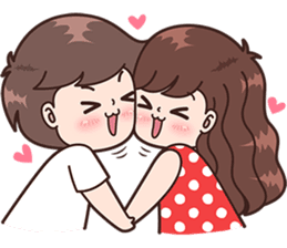 Boobib Cute Couples ( For Girl ) Vol.3 – Line Stickers | Line Store