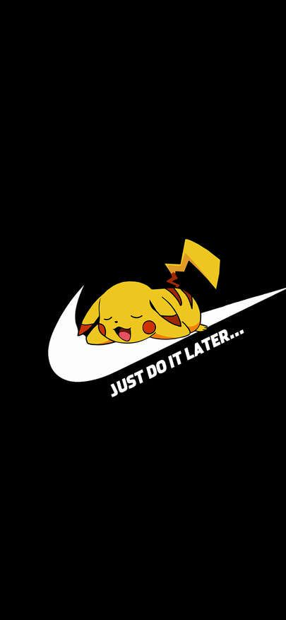 Cartoon Skin Blocks Grave Nike Logo Just Do It Wallpapers For Iphone X, Iphone Xs And Iphone Xs Max - Free Wallpaper   Download Free Wallpapers