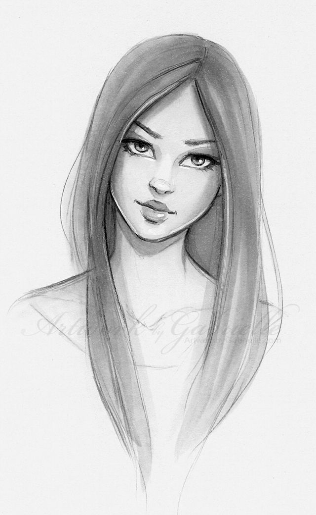 Girl Sketch On Pinterest   Girl Drawings, Character Illustration ...