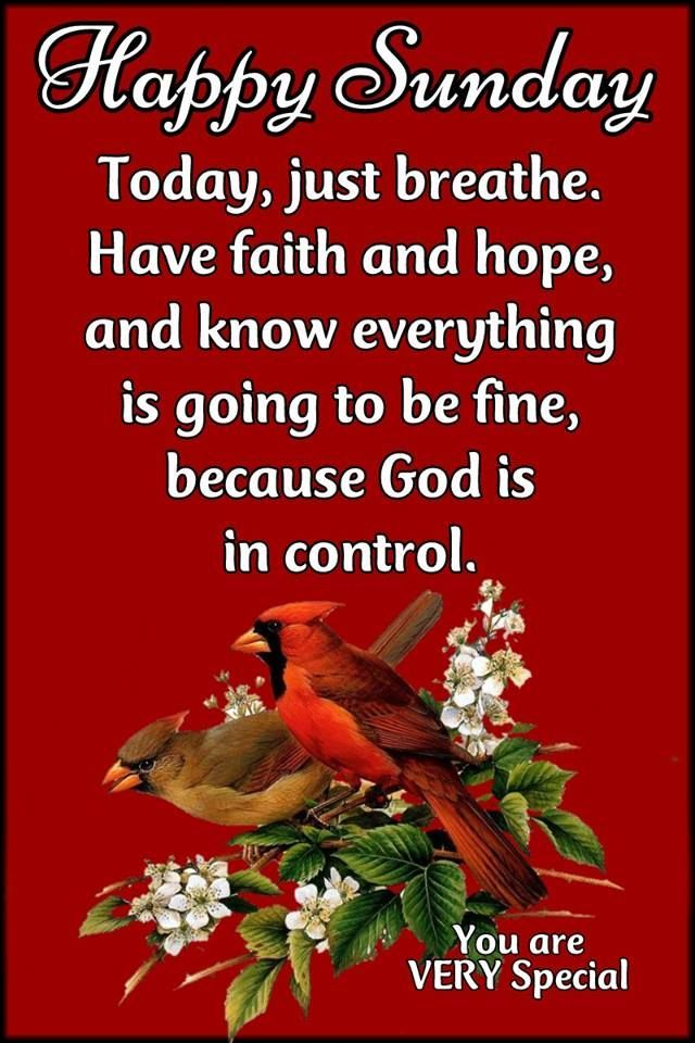 God Is In Control Happy Sunday