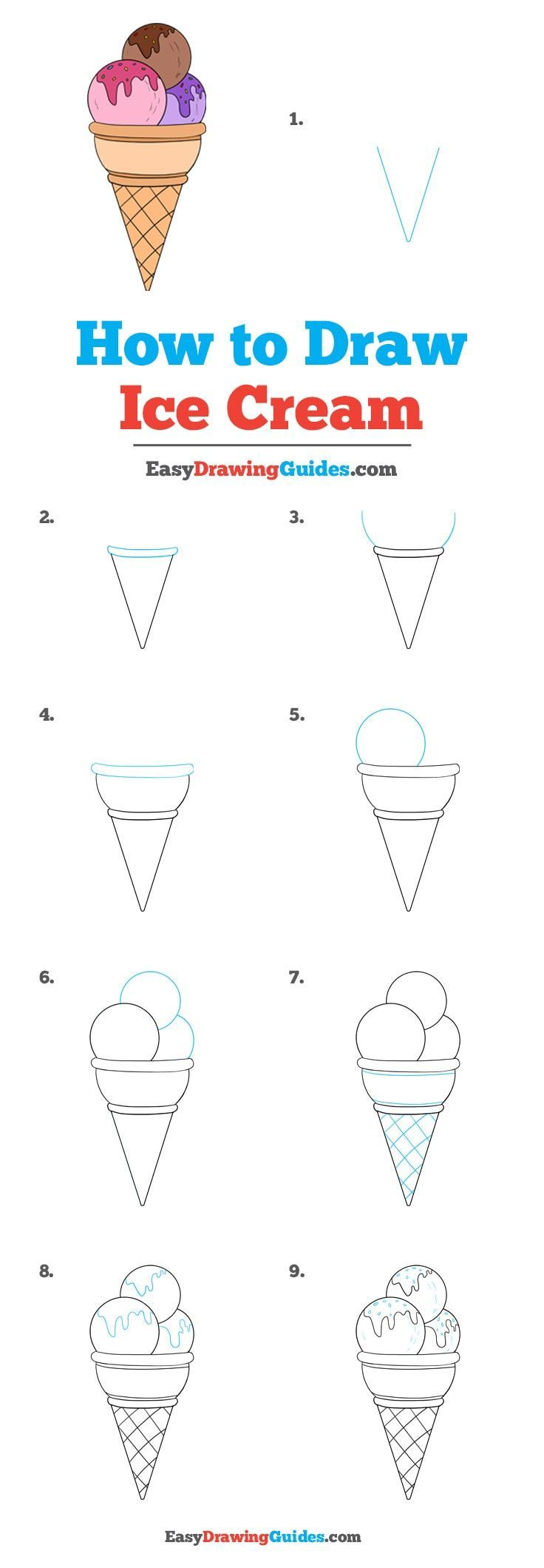 How To Draw Ice Cream - Really Easy Drawing Tutorial