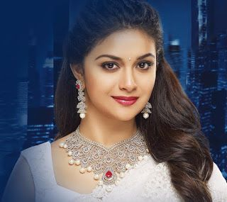 Keerthy Suresh In White Saree With Cute And Awesome Chubby Cheeks Lovely Smile For Avr Jewellers Ad