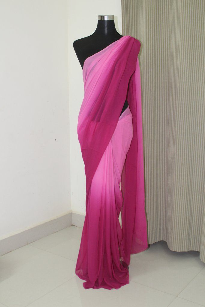 Shaded Georgette Saree