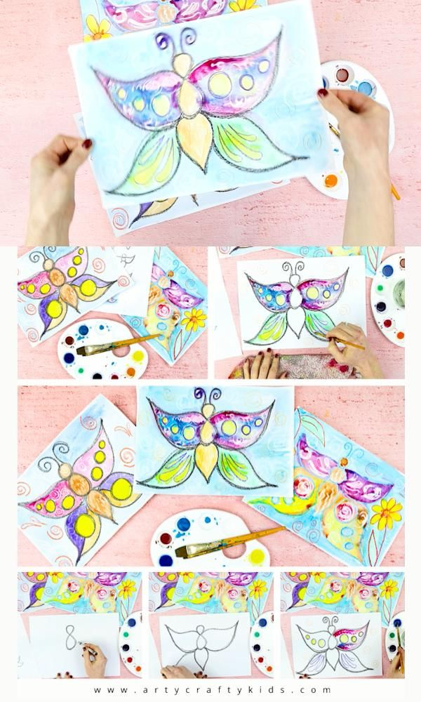 Flow Drawing For Kids: How To Draw A Butterfly