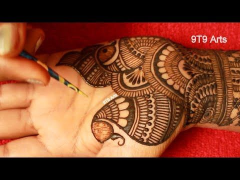 Karva Chauth Special Easy Mehndi Design For Front Hands||Best Arabic Henna||New Floral Henna Designs