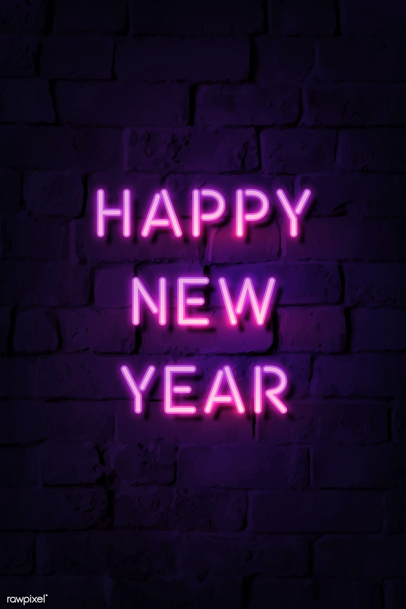 Download Premium Illustration Of Neon Bright Happy New Year Sign 1232200
