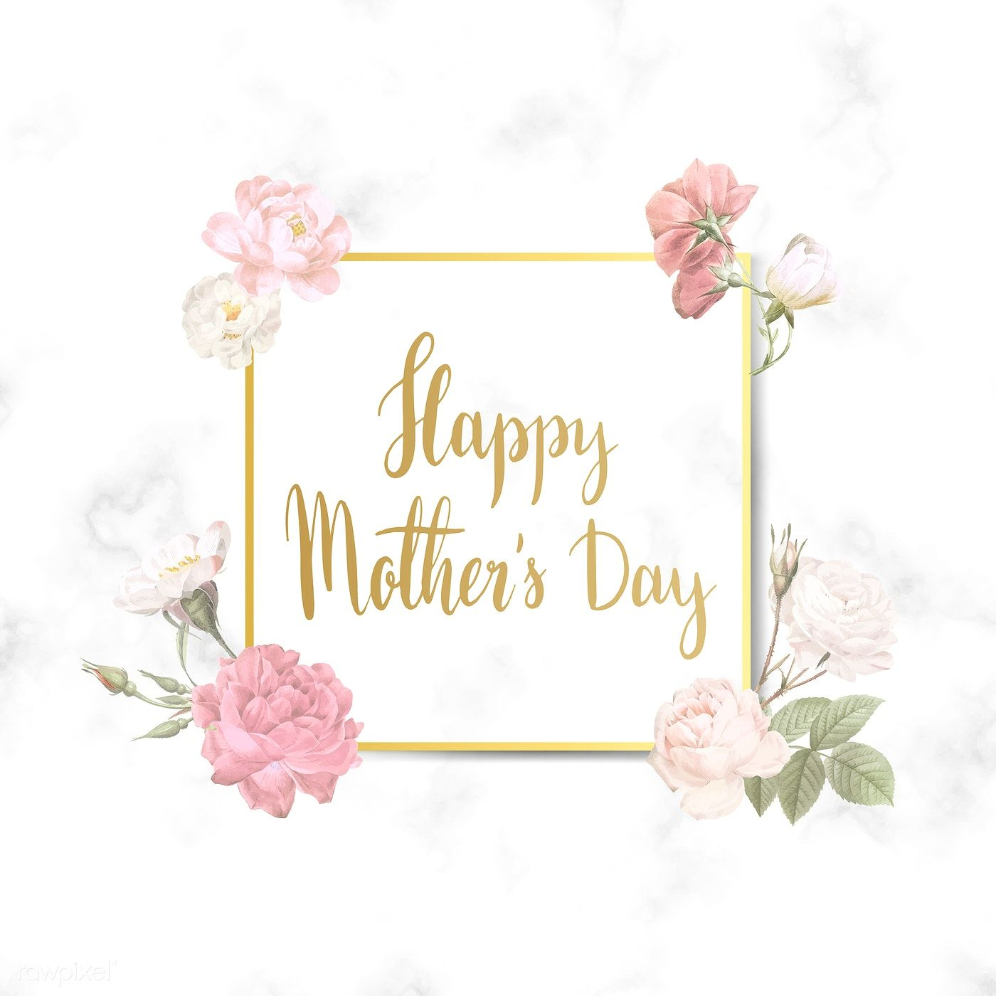 Download Premium Vector Of Happy Mother'S Day Square Badge Vector