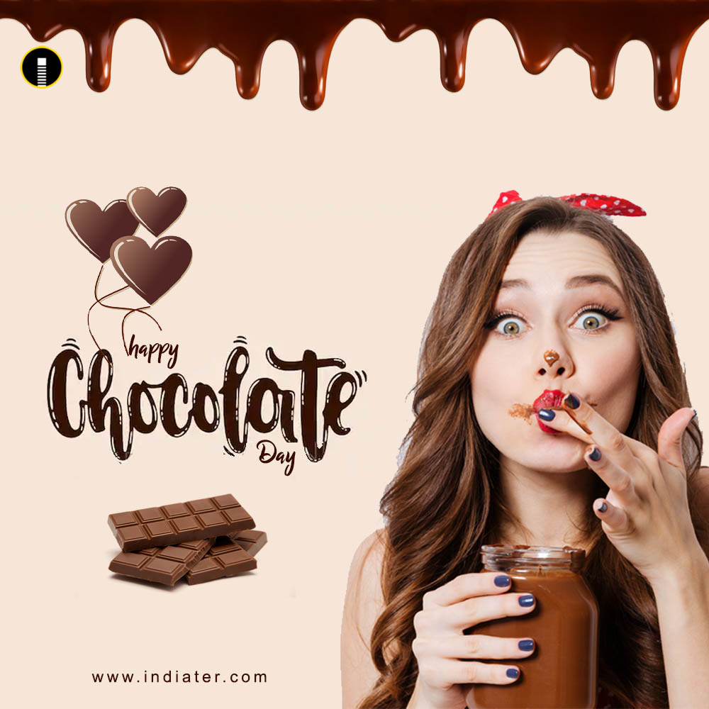 Happy Chocolate Day Design Template Free Download - Indiater