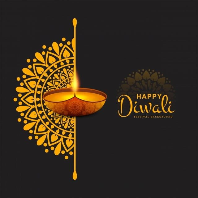 Happy Diwali Festival Background With Text Space, Abstract, Light, Diwali Png And Vector With Transparent Background For Free Download