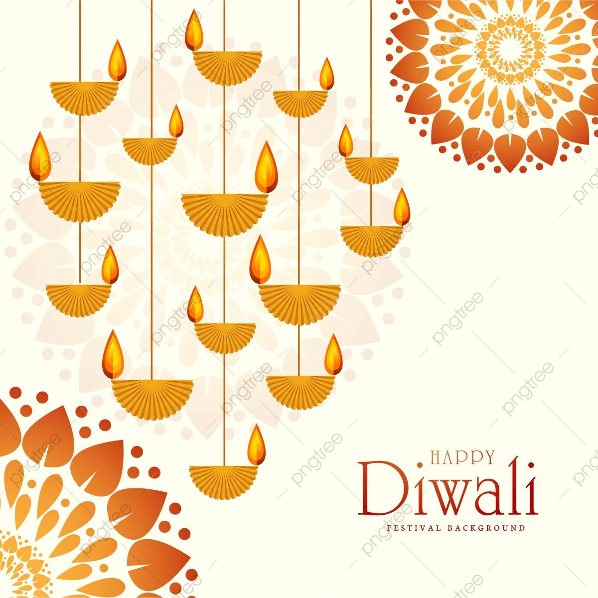 Happy Diwali Wished Greeting Card Design Background, Abstract, Light, Diwali Png And Vector With Transparent Background For Free Download
