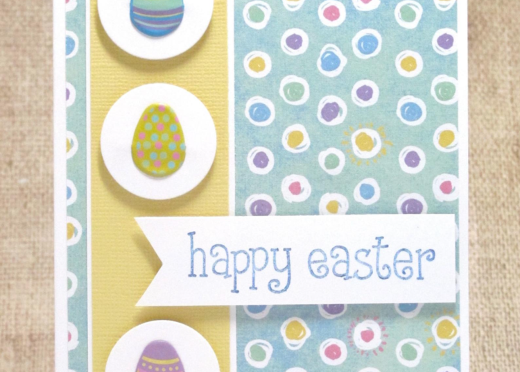 Happy Easter Eggs Card- Easter Eggs- Easter Cards- Happy Easter- Easter Kids Card- Clearance