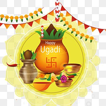 Happy Ugadi 2021 Free Vector Download, Ugadi -, Ppt On Ugadi, Ugadi Pachadi Png And Vector With Transparent Background For Free Download