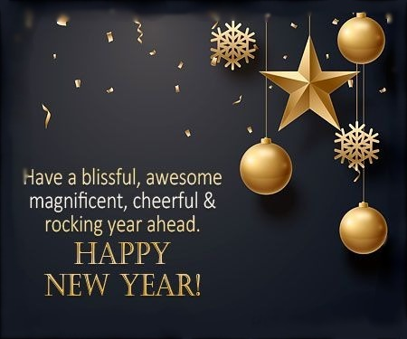 Have A Blissful, Awesome, Magnificent.. New Year Cards