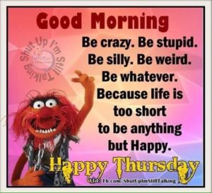 Life is too short to be anything but happy. Happy Thursday
