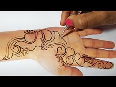 Easy Mehndi Design for Hands | Henna Designs, Mehndi Design for Beginners
