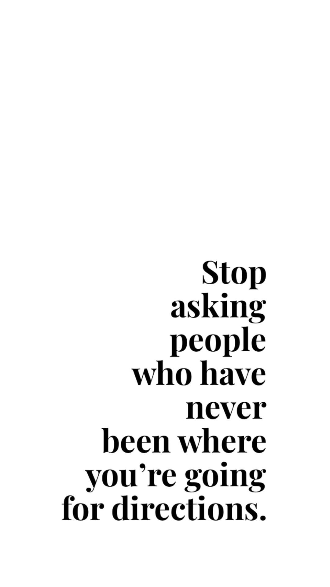 Please Don't. Discover Your Path.