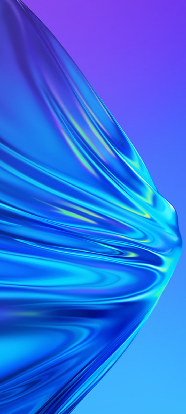 Realme V3 Purple And Blue Mix Wallpaper