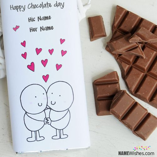 Unique Chocolate Day Wishes With Couple Names