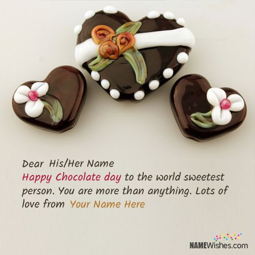 Write Couple Names On Chocolate Day Wishes