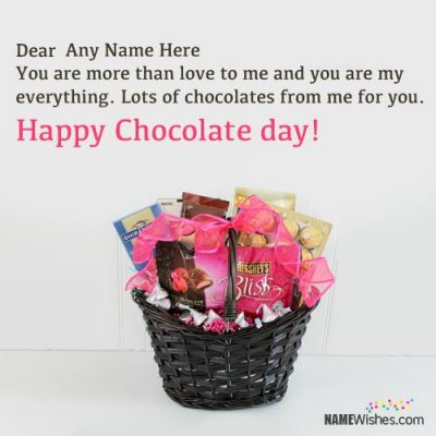 Best Ever Chocolate Day Wishes With Couple Names