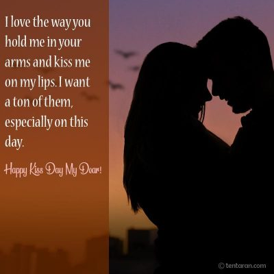 Happy kiss day quotes images for boyfriend