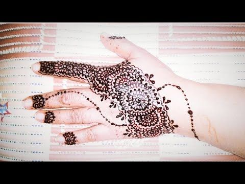 How To Apply Mehndi | How To Apply Henna | Back Hand Mehndi Design | Easy Henna Design | Easy Mehndi